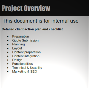 Internal Checklist PDF screenshot
