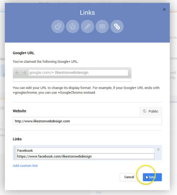 Google plus brans backlinks