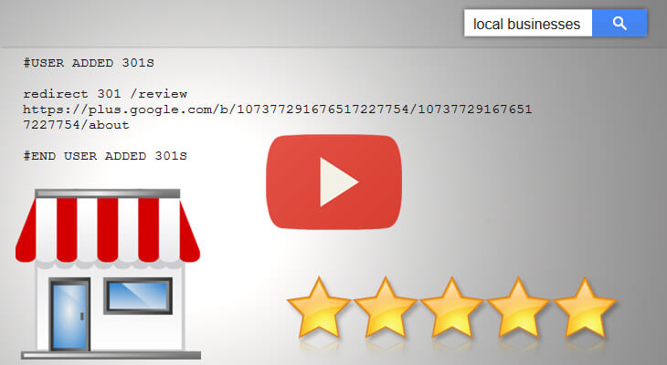 Google Plus Local 301 Redirect Easy Review Tactic