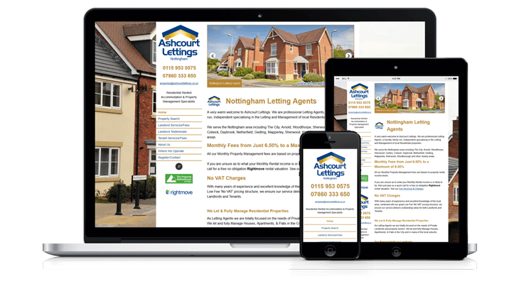 Ashcourt Lettings Website Mockup