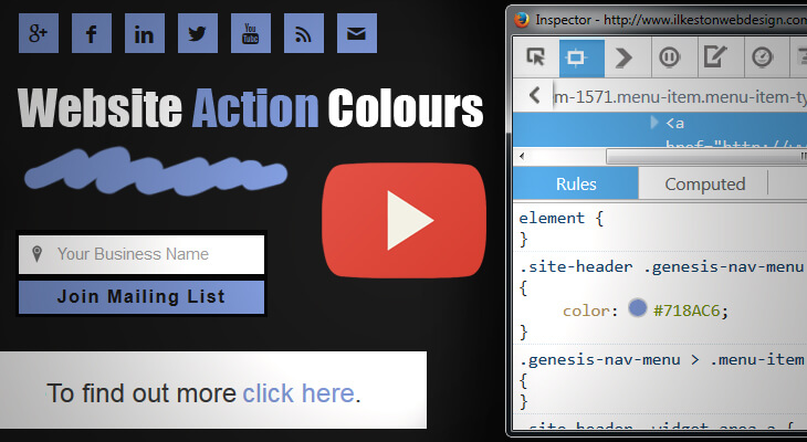 Website Action Colours
