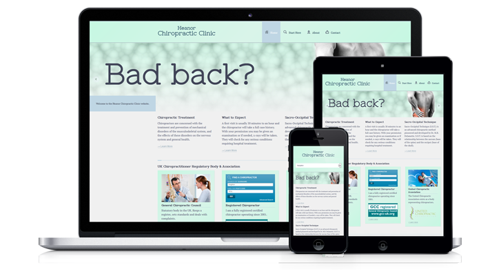 """Heanor Chiropractic Clinic"" – Mobile Responsive Website, Derby"