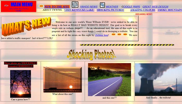 Worst Website Design
