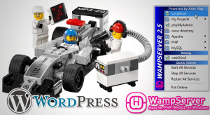 Lego racing car pitstop