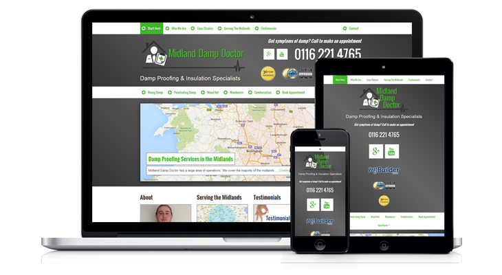 Midland Damp Doctor Mobile website