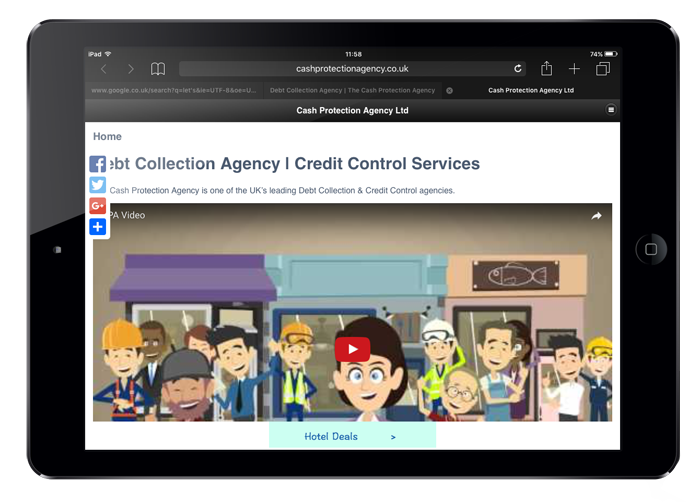 Cash Protection Agency Wizzy App demo - small