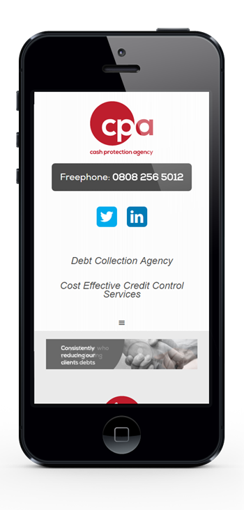 Cash Protection Agency iPhone portrait mobile demo - small
