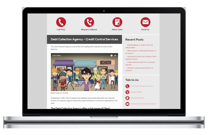CPA website laptop