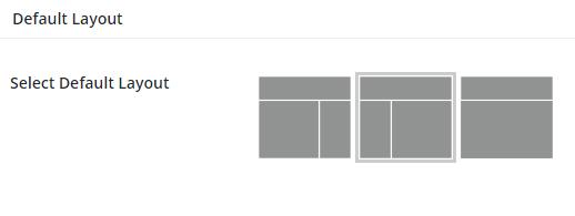WordPress default layout settings
