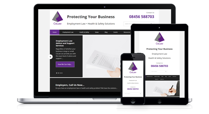 """CoLaw"" – Mobile Responsive Website, Leicester"