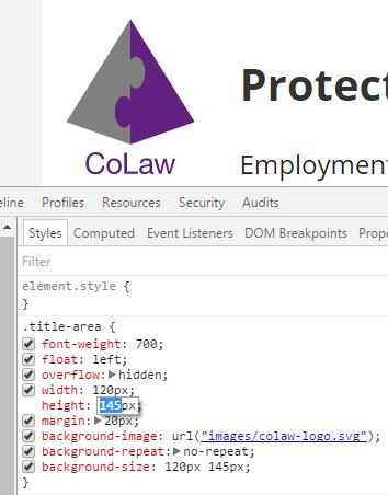 CoLaw logo CSS