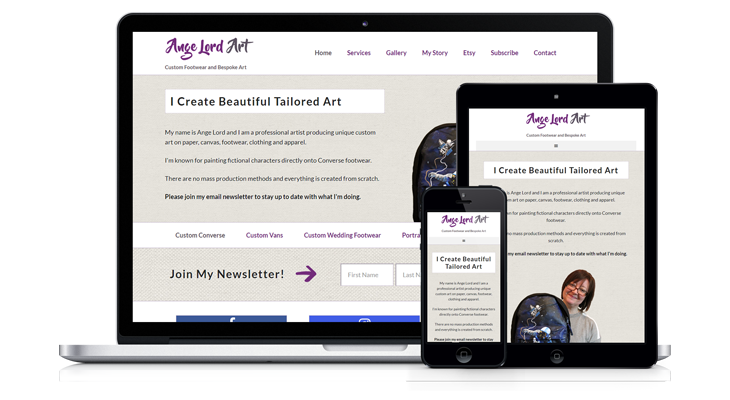 """Ange Lord Art"" – Mobile Responsive Website"