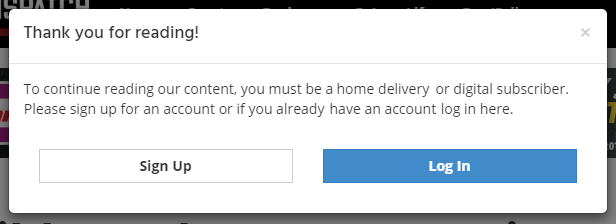 Website access prompt