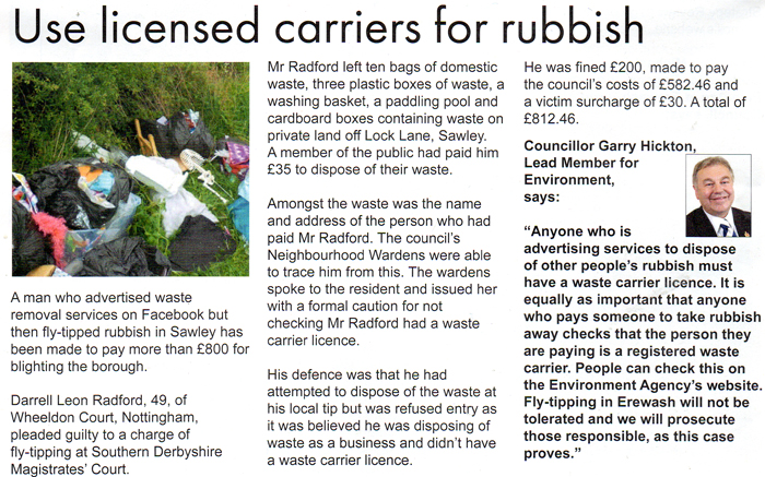 Use licensed carriers for rubbish article