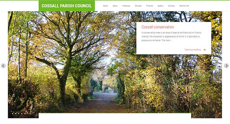 Cossall Parish Council slider